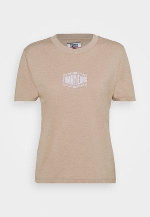 LOGO TEE - T-shirts med print - soft beige