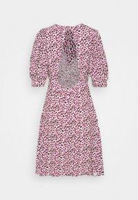 Closet - CLOSET PUFF SLEEVE A LINE DRESS - Day dress - pink - 1