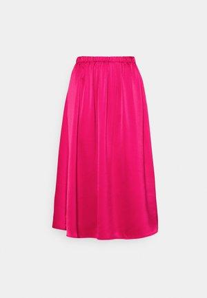 SRCAMILLE MIDI SKIRT - A-line skirt - pink peacock