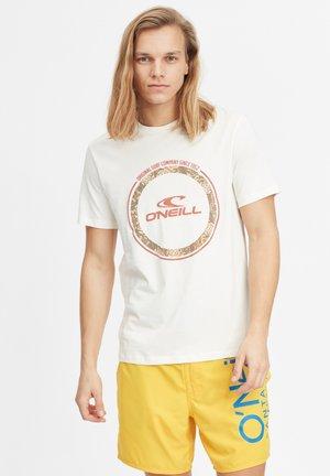 TRIBE - T-shirt med print - egret