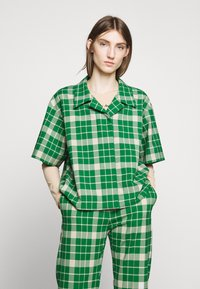 MM6 Maison Margiela - Button-down blouse - green - 2