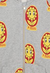 Mini Rodini - FLOWER ZIP HOODIE UNISEX - Zip-up hoodie - grey melange - 2
