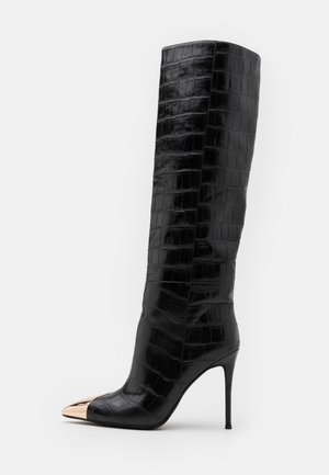 ARSEN - High heeled boots - black stone
