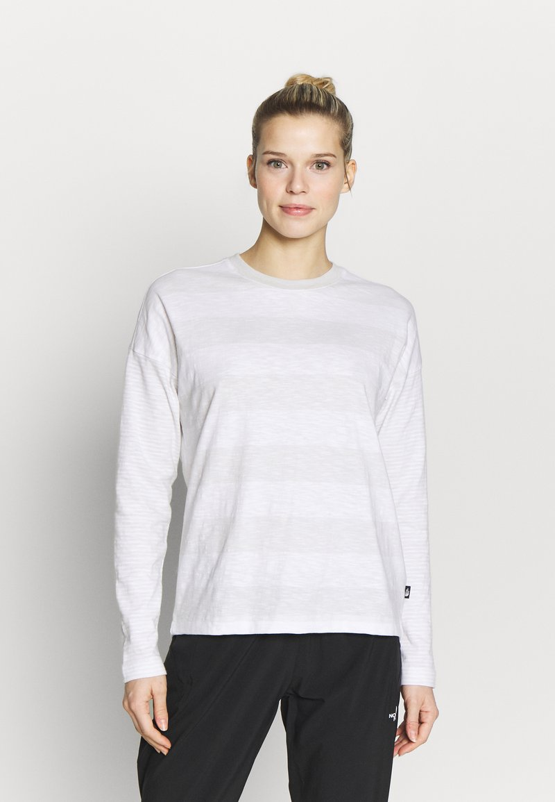 The North Face - WOMENS STRIPE - Long sleeved top - tin grey/boulder