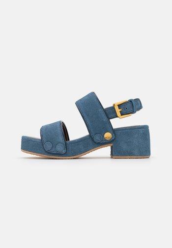 GALY - Platform sandals - blue