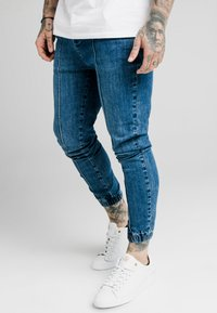 SIKSILK - CUFFED - Jeans Skinny Fit - midstone blue - 0