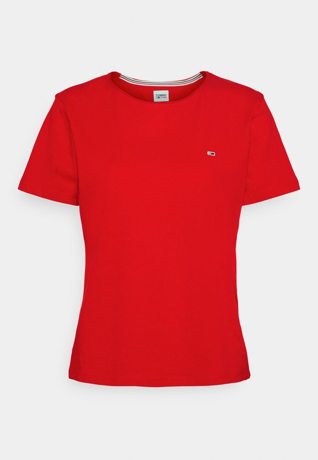 SLIM CNECK - T-shirt basic - deep crimson
