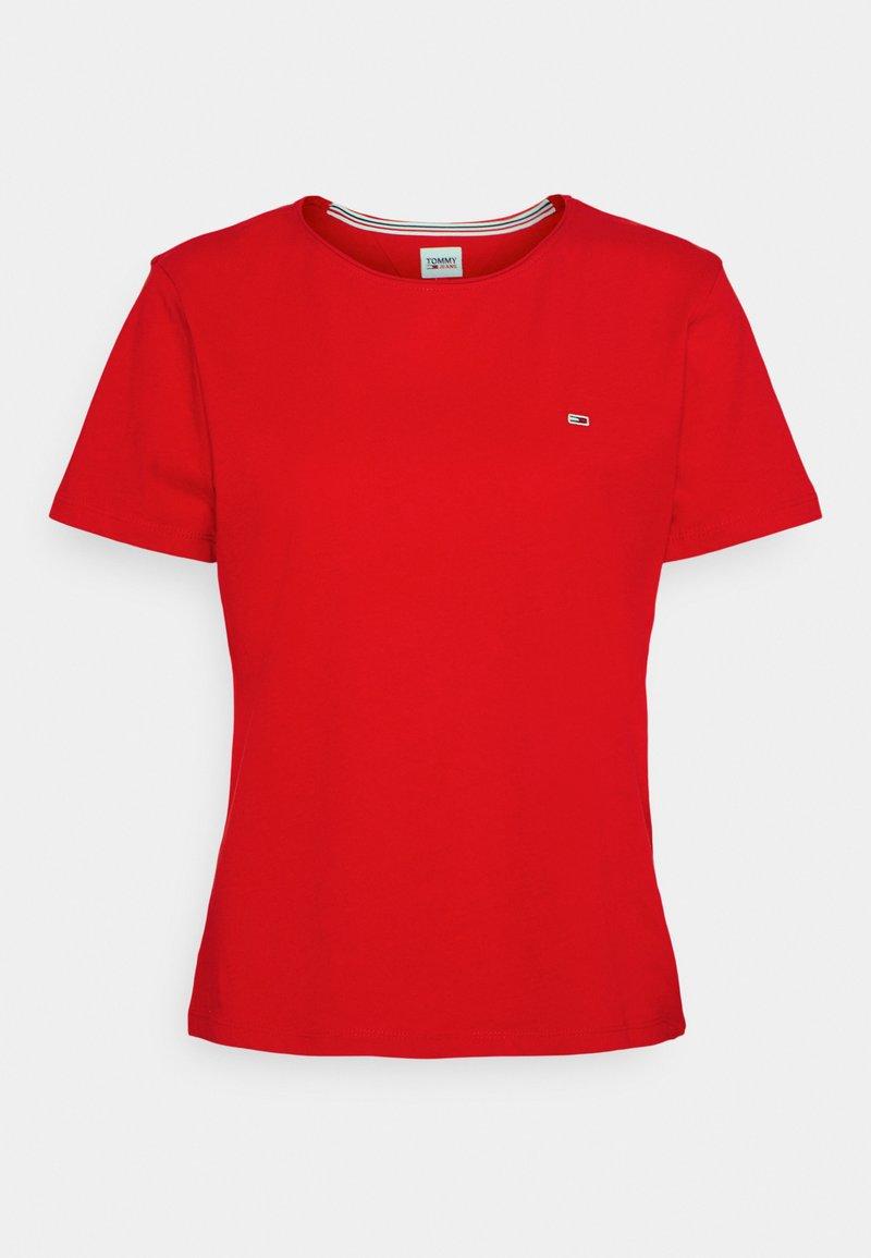 Tommy Jeans - SLIM CNECK - T-shirt basique - deep crimson