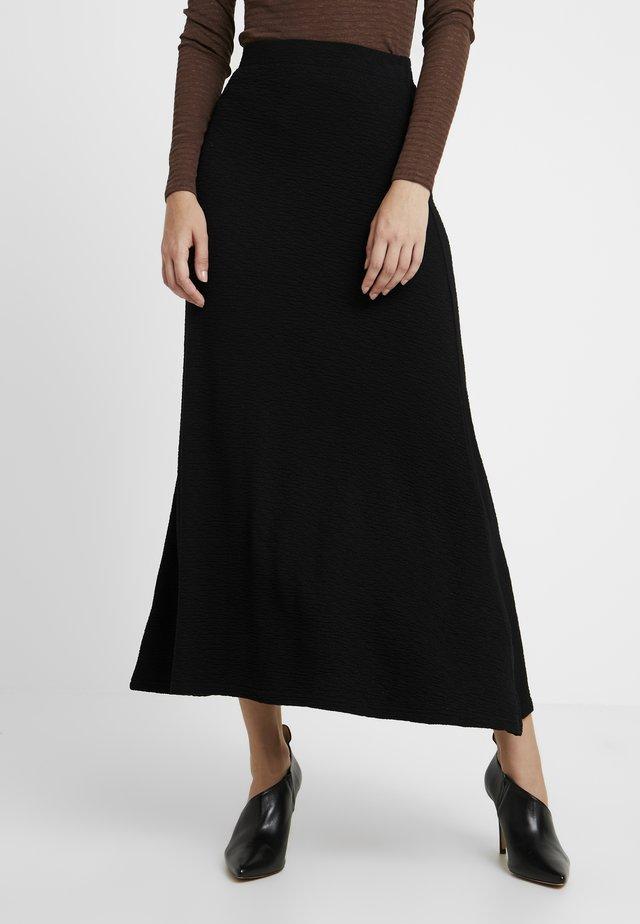 AMILIA SKIRT - Maxi skirt - black