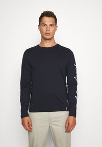 Tommy Hilfiger - SIGNATURE SLEEVE TEE - T-shirt à manches longues - blue - 0