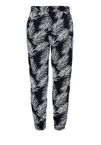 s.Oliver - LEICHTE STOFFHOSE - Legging - navy aop leafs - 0