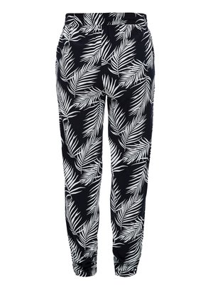 LEICHTE STOFFHOSE - Leggings - Trousers - navy aop leafs