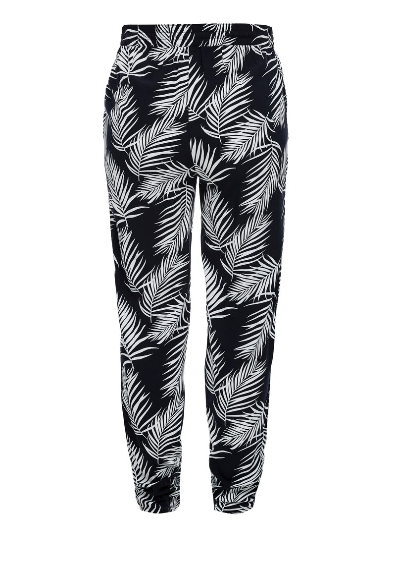 s.Oliver - LEICHTE STOFFHOSE - Legging - navy aop leafs