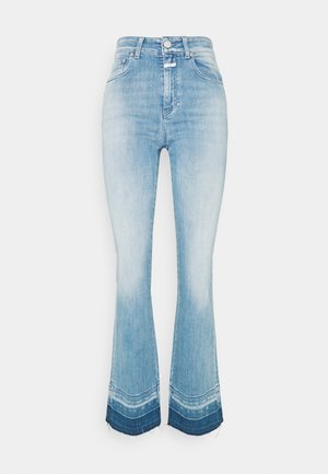 LEAF - Flared Jeans - mid blue