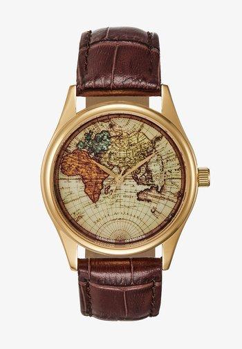 VINTAGE WORLD - Klocka - gold-coloured/brown