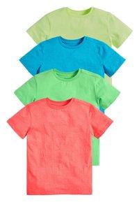 Next - 4 PACK FLURO T-SHIRTS - Basic T-shirt - blue - 0