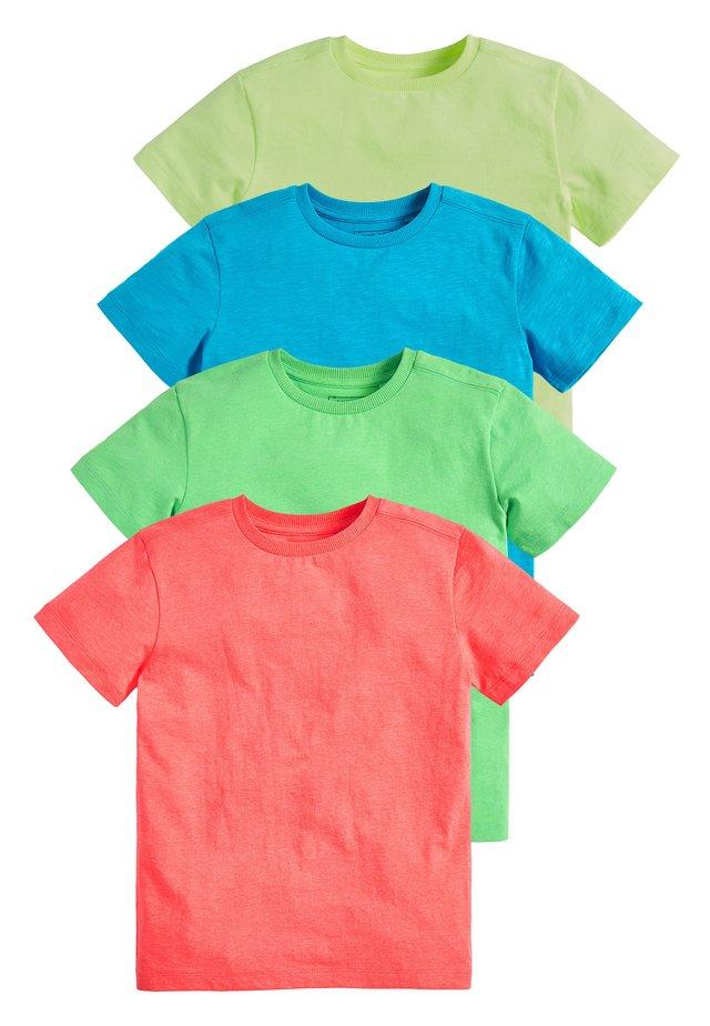 4 PACK FLURO T-SHIRTS - Jednoduché triko - blue