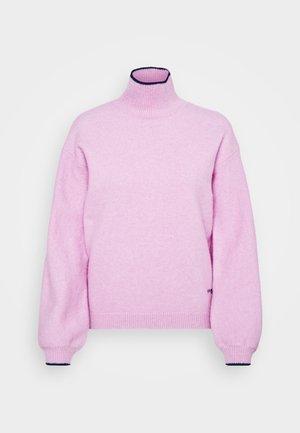 OVERSIZED MOCK NECK JUMPER - Pullover - lilac pink