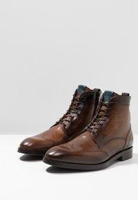 Giorgio 1958 - Lace-up ankle boots - marrone/blu - 2