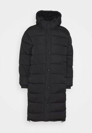 LONGLINE PUFFER JACKET - Classic coat - black