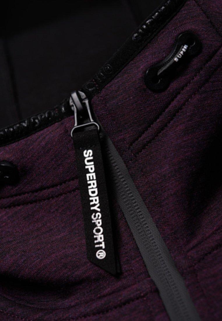 Superdry CORE GYM TECH - veste en sweat zippée - purple