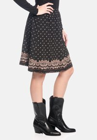 Vive Maria - ROCK HEIDI SWING  - A-line skirt - schwarz allover - 3