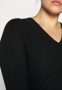 Persona by Marina Rinaldi - GARDENIA - Gebreide jurk - black - 5