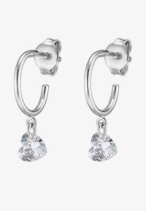 QOOQI DAMEN-OHRHÄNGER MY VALENTINE 925ER SILBER ZIRKONIA - Earrings - silber
