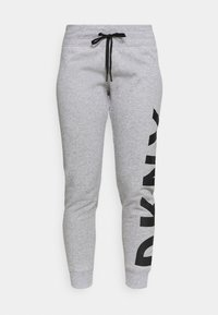 DKNY - EXPLODED LOGO CUFFED - Tracksuit bottoms - pearl grey heather - 3