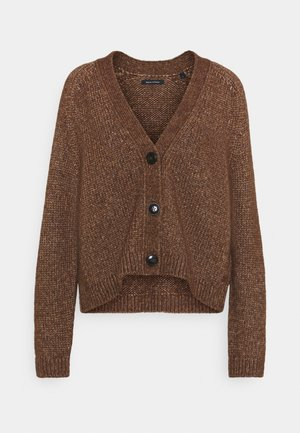CARDIGAN LONGSLEEVE - Kardigan - chestnut brown
