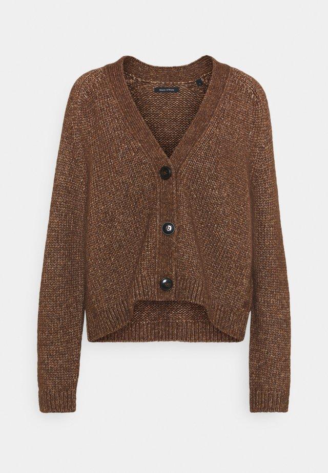 CARDIGAN LONGSLEEVE - Kardigan - chestnut brown