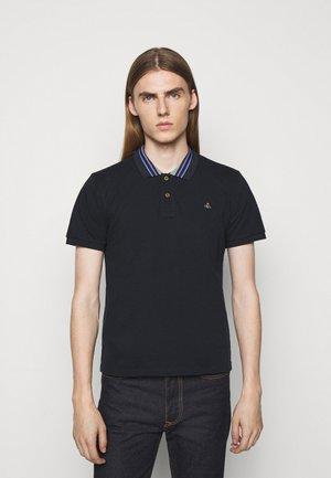 CLASSIC STRIPE COLLAR - Polo shirt - navy