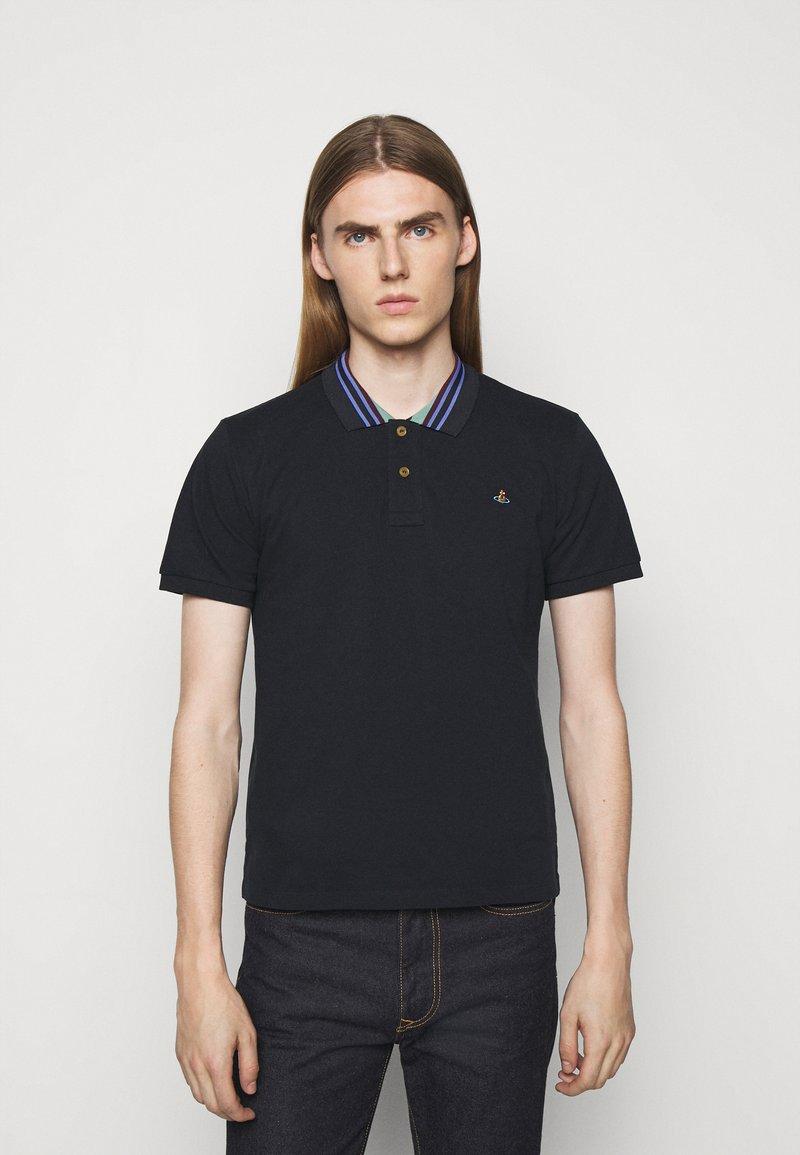 Vivienne Westwood - CLASSIC STRIPE COLLAR - Polo shirt - navy