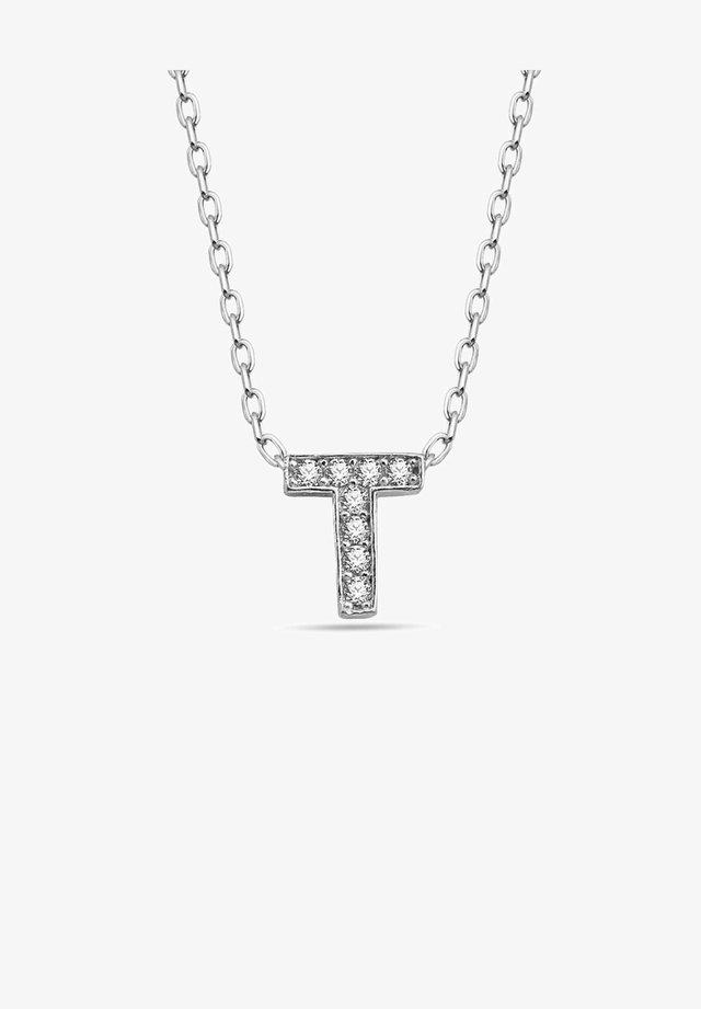 BUCHSTABEN T  - Necklace - silber