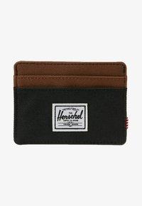 Herschel - CHARLIE - Portemonnee - black/saddle brown - 1
