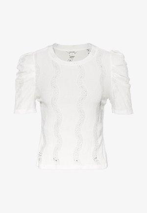VIVI TOP - Jednoduché triko - white