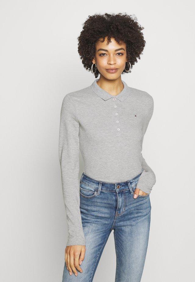 LONG SLEEVE SLIM - Polo shirt - light grey