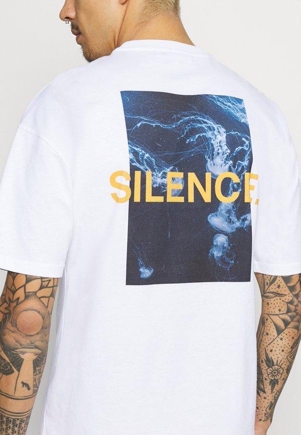9N1M SENSE SILENCE WAVES UNISEX - T-shirt z nadrukiem - white/biały Odzież Męska FFCB