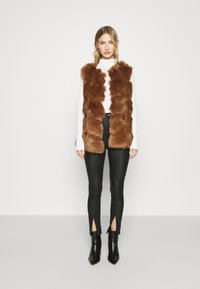 Missguided - GILET - Waistcoat - brown - 1