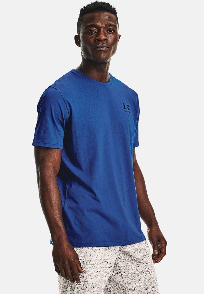 Under Armour - SPORTSTYLE  - Print T-shirt - dark blue