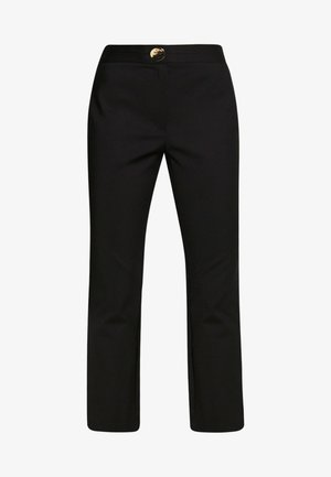 FLARE TROUSER WITH BUTTON - Kalhoty - black