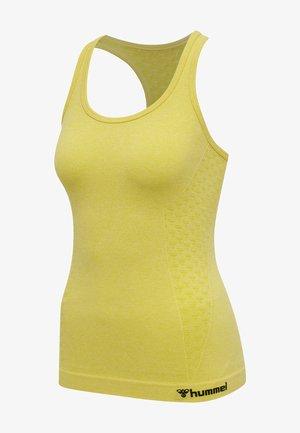 SEAMLESS - Sports shirt - celandine melange