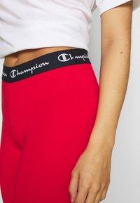Champion - LEGGINGS - Collant - red - 4