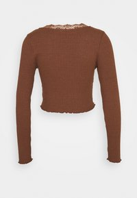 BDG Urban Outfitters - VNECK LACE CARDIGAN TOP - Strikjakke /Cardigans - brown - 1