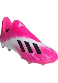 adidas Performance - ADIDAS PERFORMANCE X 19.3 LL FG FUSSBALLSCHUH  - Moulded stud football boots - footwear white / core black / show pink - 2