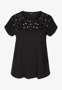 Zizzi - Print T-shirt - black stars - 3