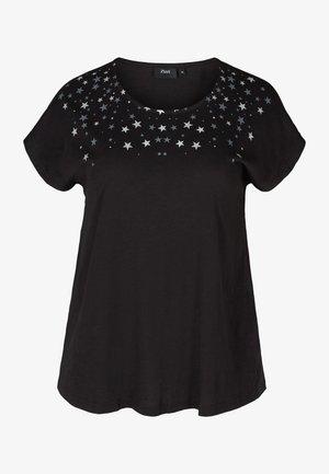 Printtipaita - black stars