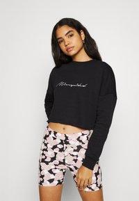 Missguided - SCRIPT GRAPHIC BACK - Sweatshirt - black - 2