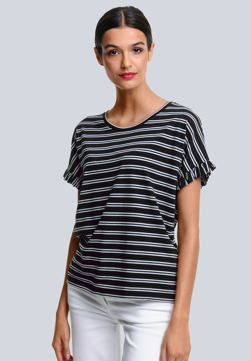 Alba Moda - Print T-shirt - schwarz,off-white