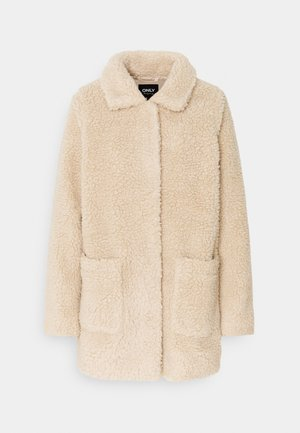 ONLAURELIA MIA SHERPA JACKET - Zimní kabát - cuban sand